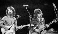 George Harrison with Eric Clapton